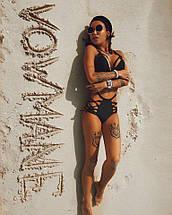 Раздельный купальник с высокими трусиками на шнуровке 42-46 р, фото 2