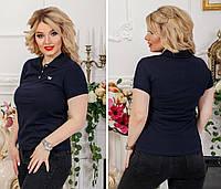 Женская футболка поло, полубатал 4433