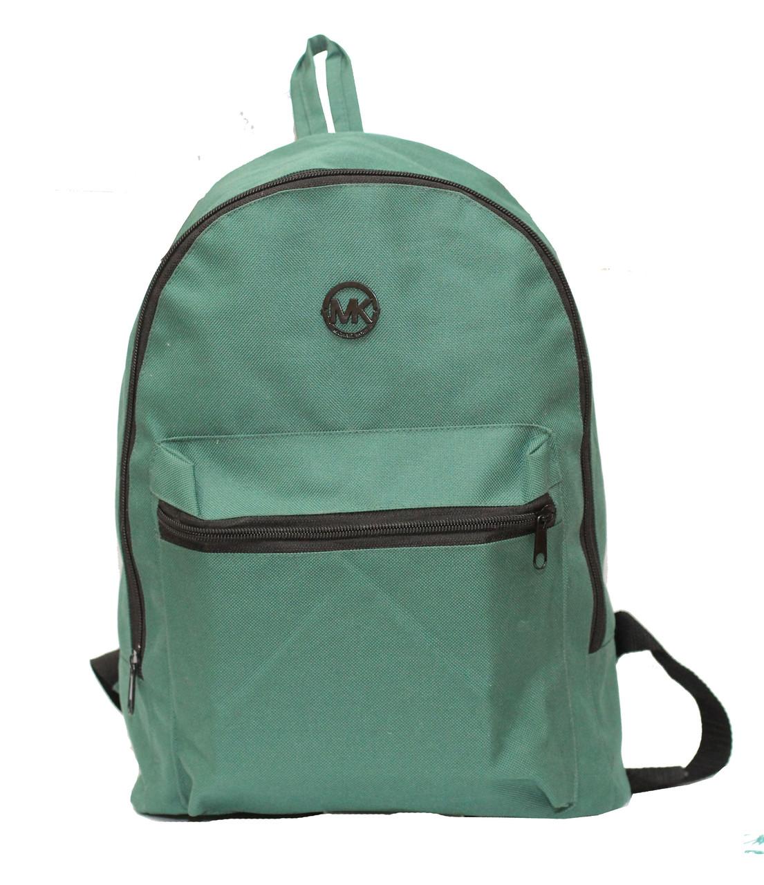 Школьный рюкзак из плотного текстиля среднего размера.
