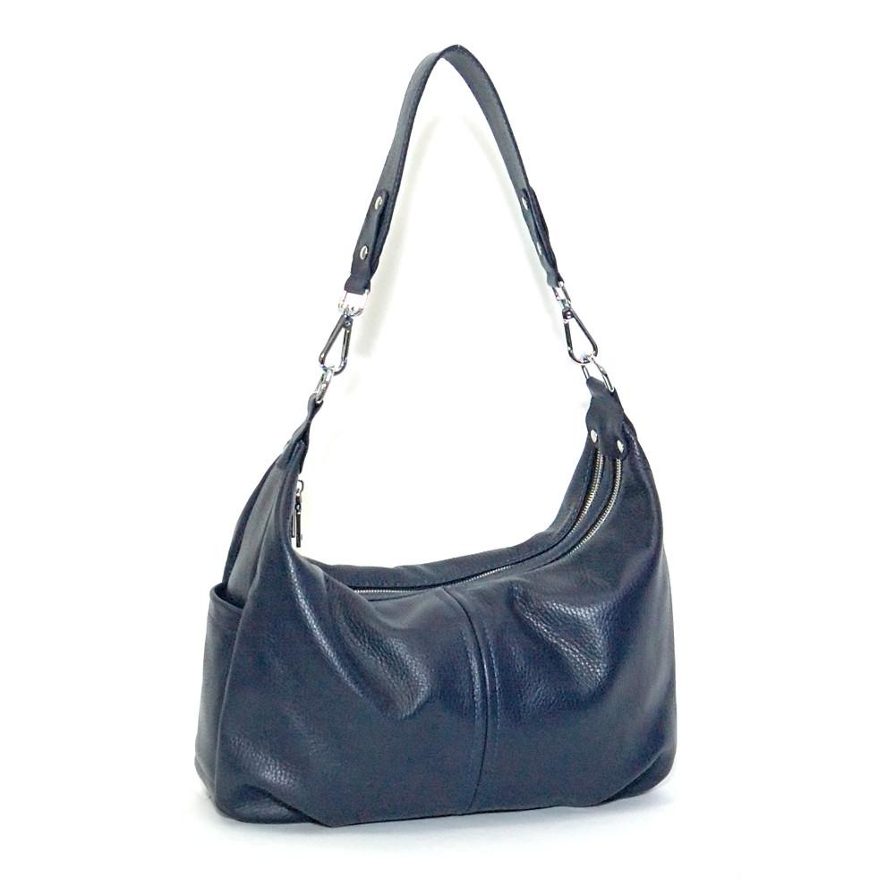 Женская сумка кожаная 34 темно-синий флотар 01340103
