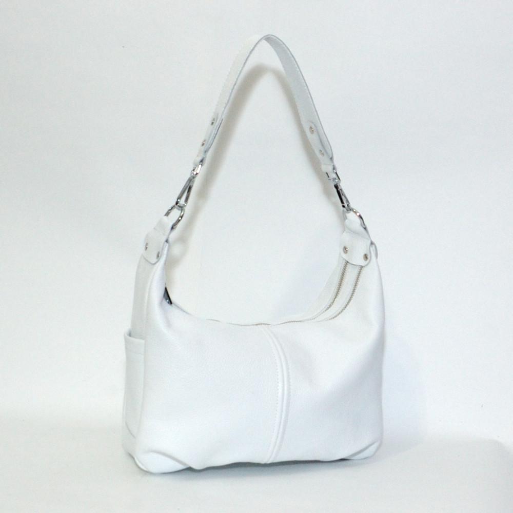 Женская кожаная сумочка 34 белый флотар 01340102