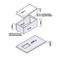 Сборный железобетонный гараж ПС-11-1Д
