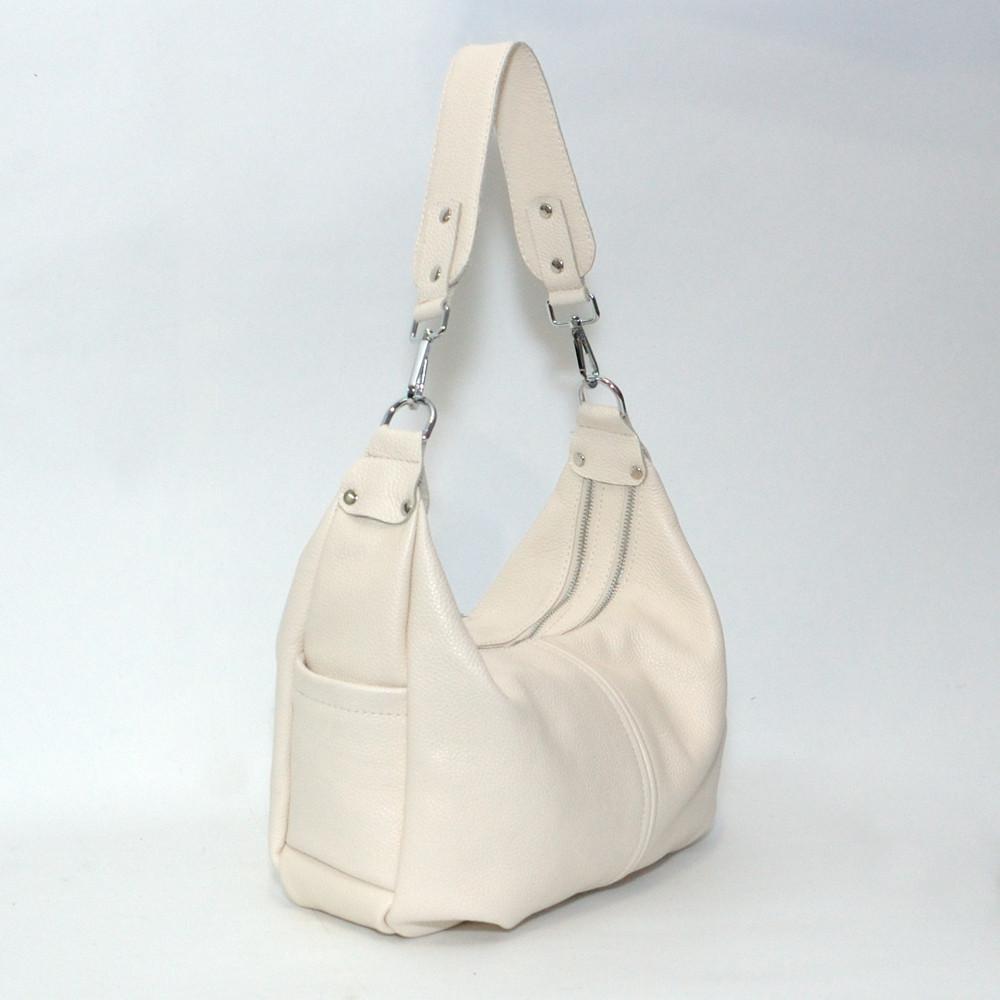 Женская сумочка кожаная.34 светло-бежевый флотар 01340108