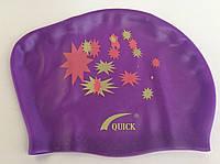 Шапочка для плавания QUICK для длинных волос, фото 1