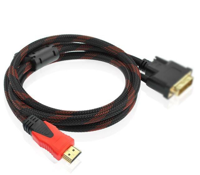 Кабель Kronos HDMI-VGA 1.5 метра V1.4 M/M с ферритовыми фильтрами в нейлоновой оплетке