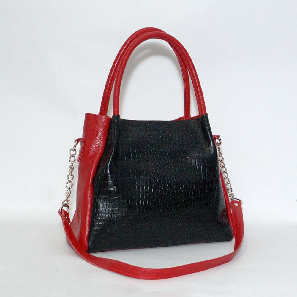 Женская сумка 33 черный кайман/красный флотар 013301-0207-01