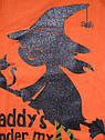 Оранжевый реглан с перламутровой ведьмочкой Daddy's under my Spell (Размер 2Т) Carter's (США), фото 2