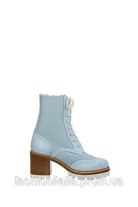Женские ботинки Nando Muzi голубые и хаки