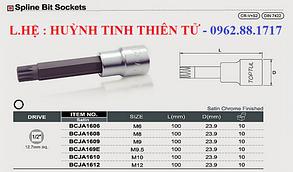"""Головка з насадкою SPLINE M12 L100mm 1/2"""" TOPTUL BCJA1612, фото 2"""