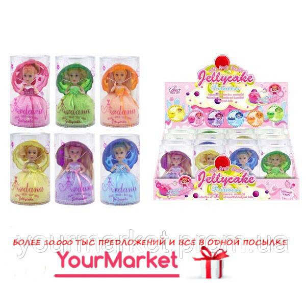 Кукла Jellycake 6 видов, с ароматом, превращ в капкейк  DH2172