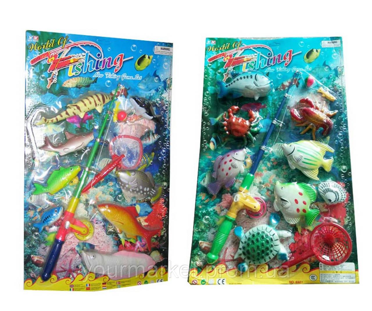 Рыбалка 6925/6927 (6927) магнит.,2 вида микс,удочка,рыбки,на планшетке