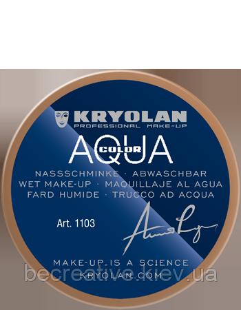 Коричневый аквагрим AQUACOLOR 55мл(оттенок OB 2)