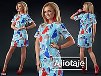 Летнее хлопковое платье - 21015