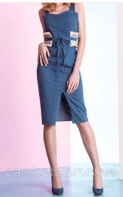 3b48aa7a7e6 Сарафан женский летний короткий джинсовый со съёмным поясом P9479 ...