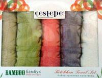 Турецкие качественные полотенца на кухню, бамбук, 50х30см. - 5 шт., 369/308 (цена за 1 наб. + 61 гр.)