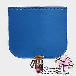 Клапан для сумки с замочком 20х18 см, 003, синий
