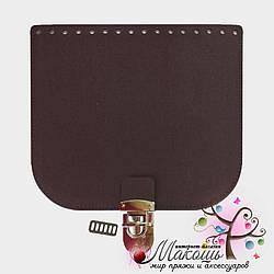 Клапан для сумки с замочком 20х18 см, 005, бордо матовое