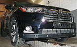 Декоративно-защитная сетка радиатора Toyota Highlander 2013-  фальшрадиаторная решетка, бампер, фото 4