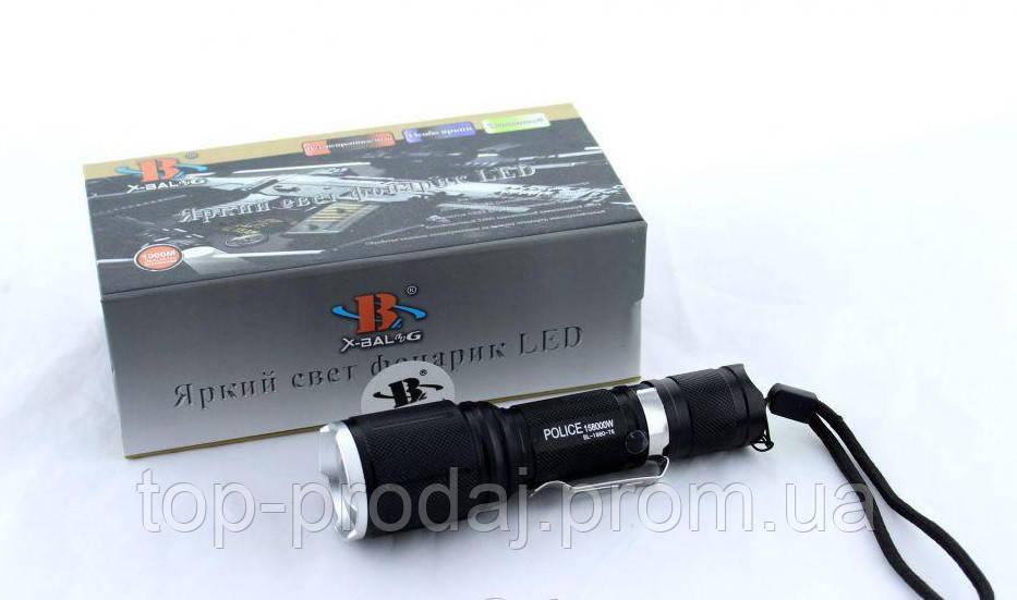 Фонарик  BL-1860-T6, Водонепроницаемый ручной фонарик, Аккумуляторный фонарик тактический, Светодиодный фонарь