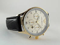 Мужские часы Emporio Armani цвет корпуса золото, белый циферблат, фото 1
