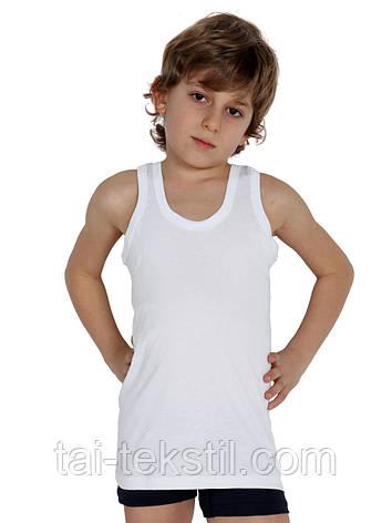 Майка белая однотонная на мальчика хлопок Турция  2-3 года, фото 2