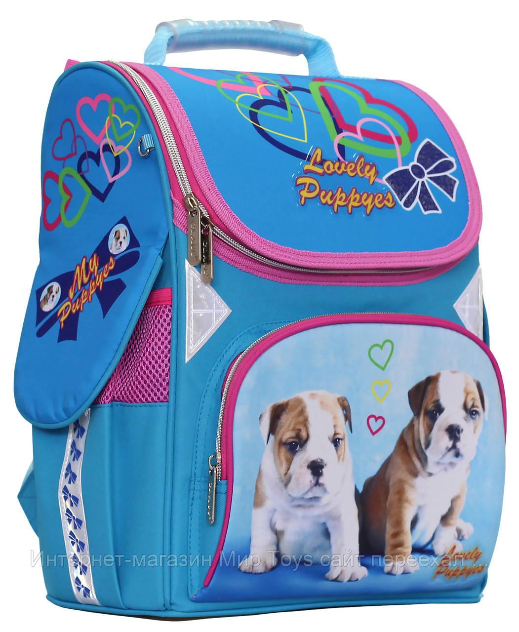 89aeb4286217 Ранец Рюкзак Школьный Ортопедический Lovely Puppies CLASS, Арт.9803 ...