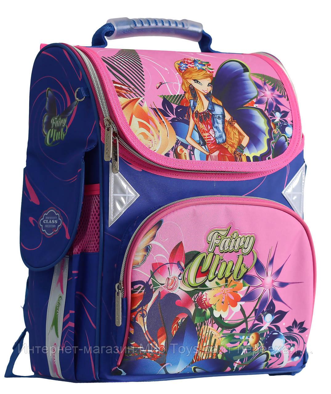 cbd513675430 Ранец рюкзак школьный каркасный для девочки Fairy Flower CLASS арт. 9806 -  Интернет-магазин
