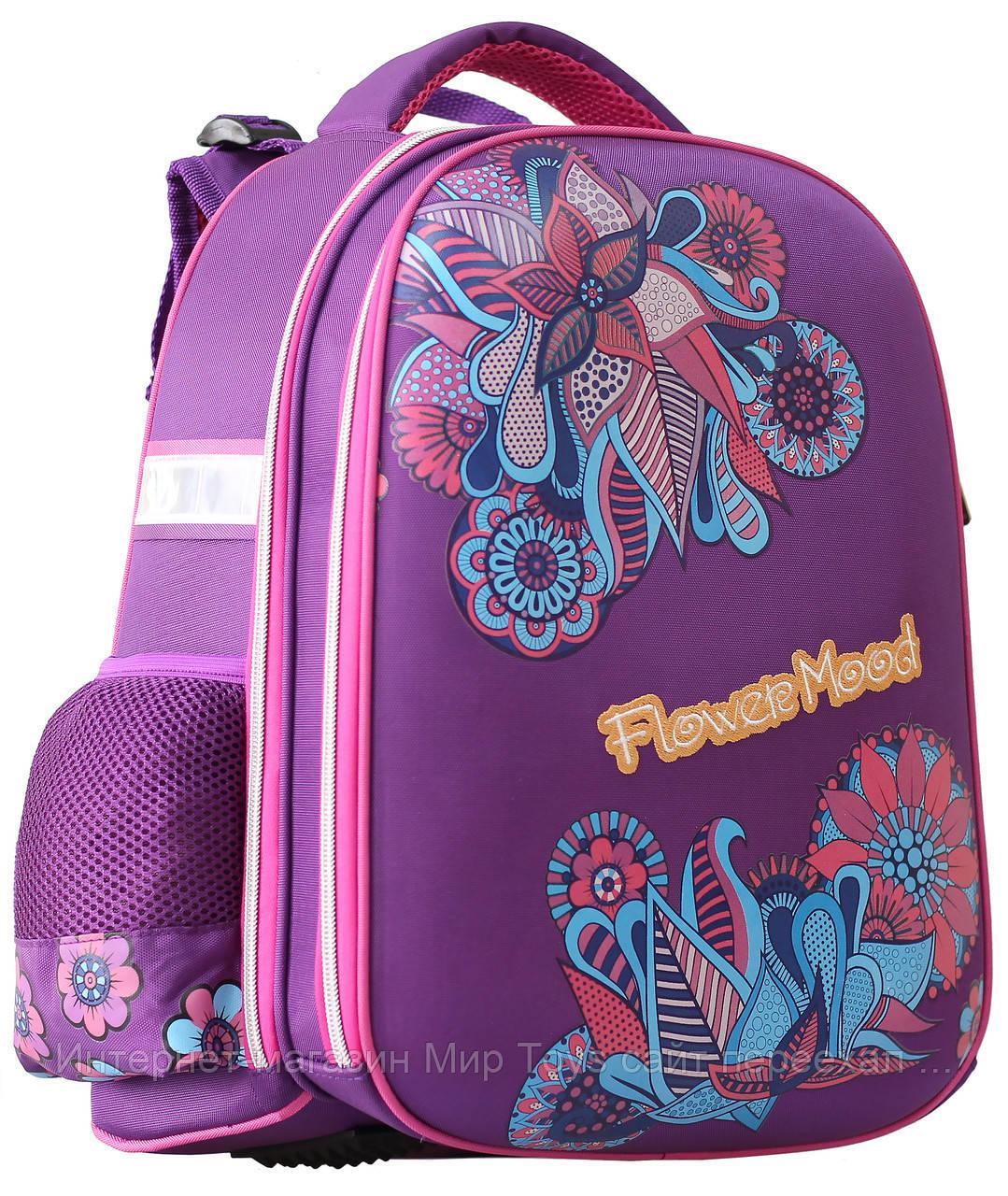 e09a4ba0553b Ранец ортопедический 9819 Flower Mood CLASS для девочки - Интернет-магазин  Мир Toys рюкзаки школьные