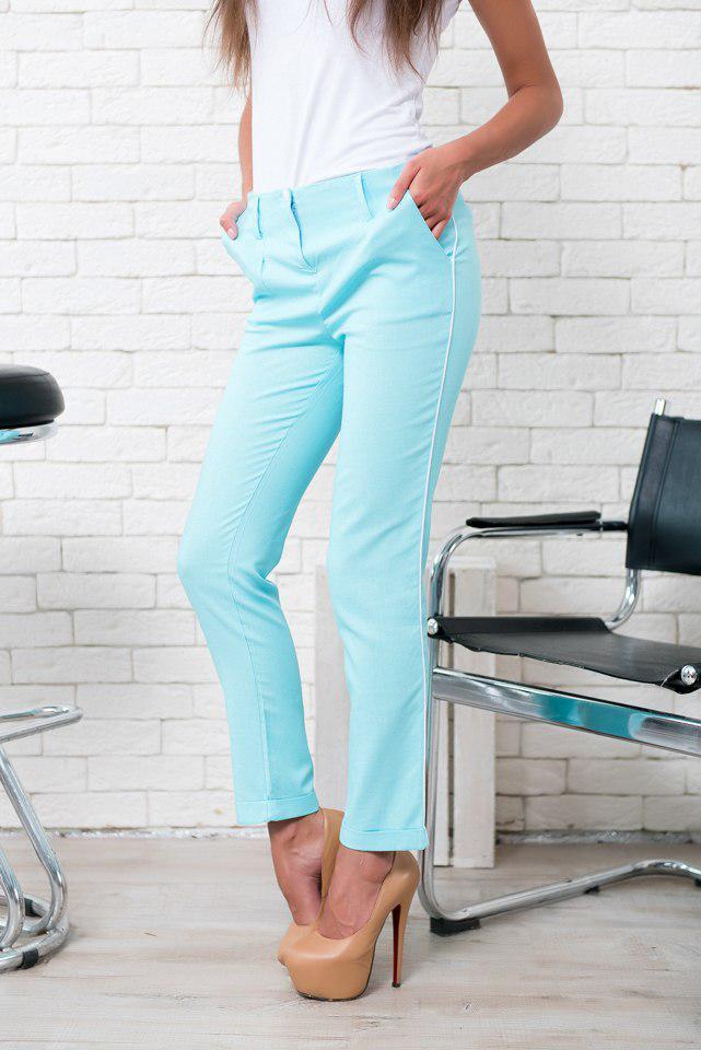 Летние льняные брюки с карманами / 6 цветов   арт 5625-34