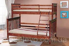 Уют кровать двухъярусная Скандинавия орех темный 140х200 и 90х200  Микс