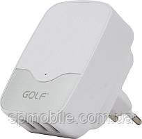 Сетевое зарядное устройство Golf GF-U305 Traver Charger 3USB 3.4 A White