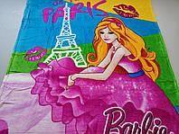Микрофибровая простынь, покрывало Elway полуторное Barbie PARIS