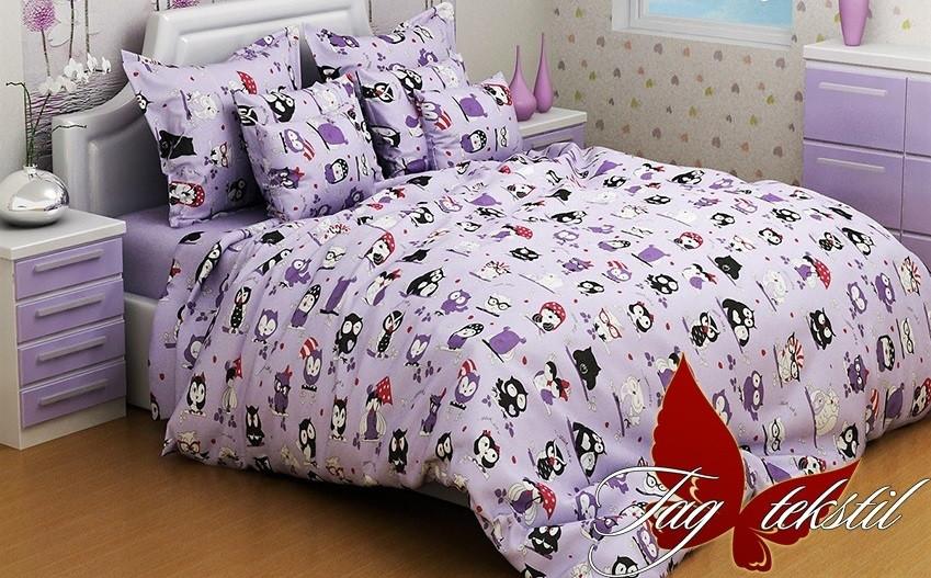 Детский комплект постельного белья с совами, Ранфорс