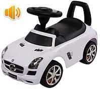 Машинка-каталка MERCEDES SLS AMG с музыкальной панелью (белый)