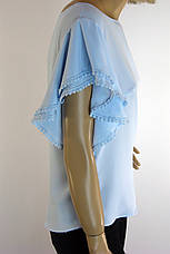 Блузка напівбатальна з коротким рукавом воланом  Miss Poiss, фото 2
