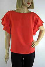 Блузка напівбатальна з коротким рукавом воланом  Miss Poiss, фото 3