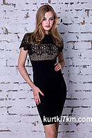 Красивое черное платье с ажуром 111, фото 1