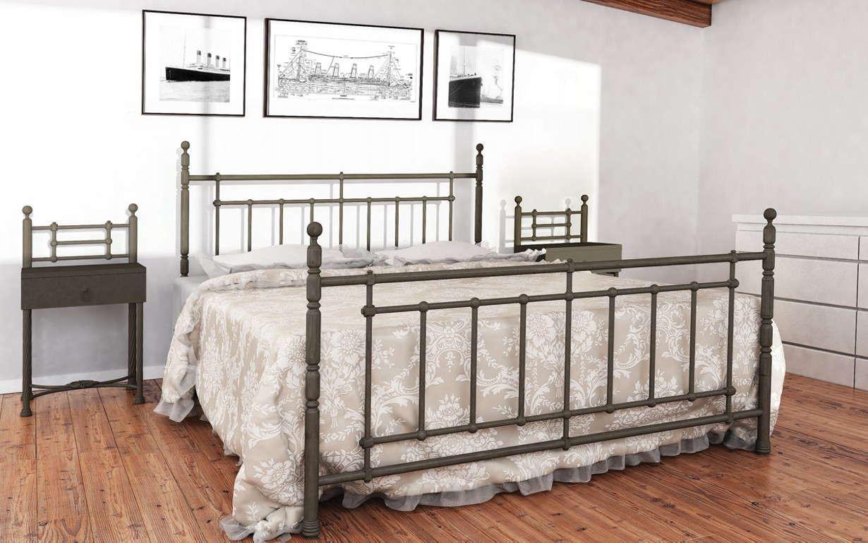 Кровать Неаполь 160*200 серый песок (Металл дизайн)