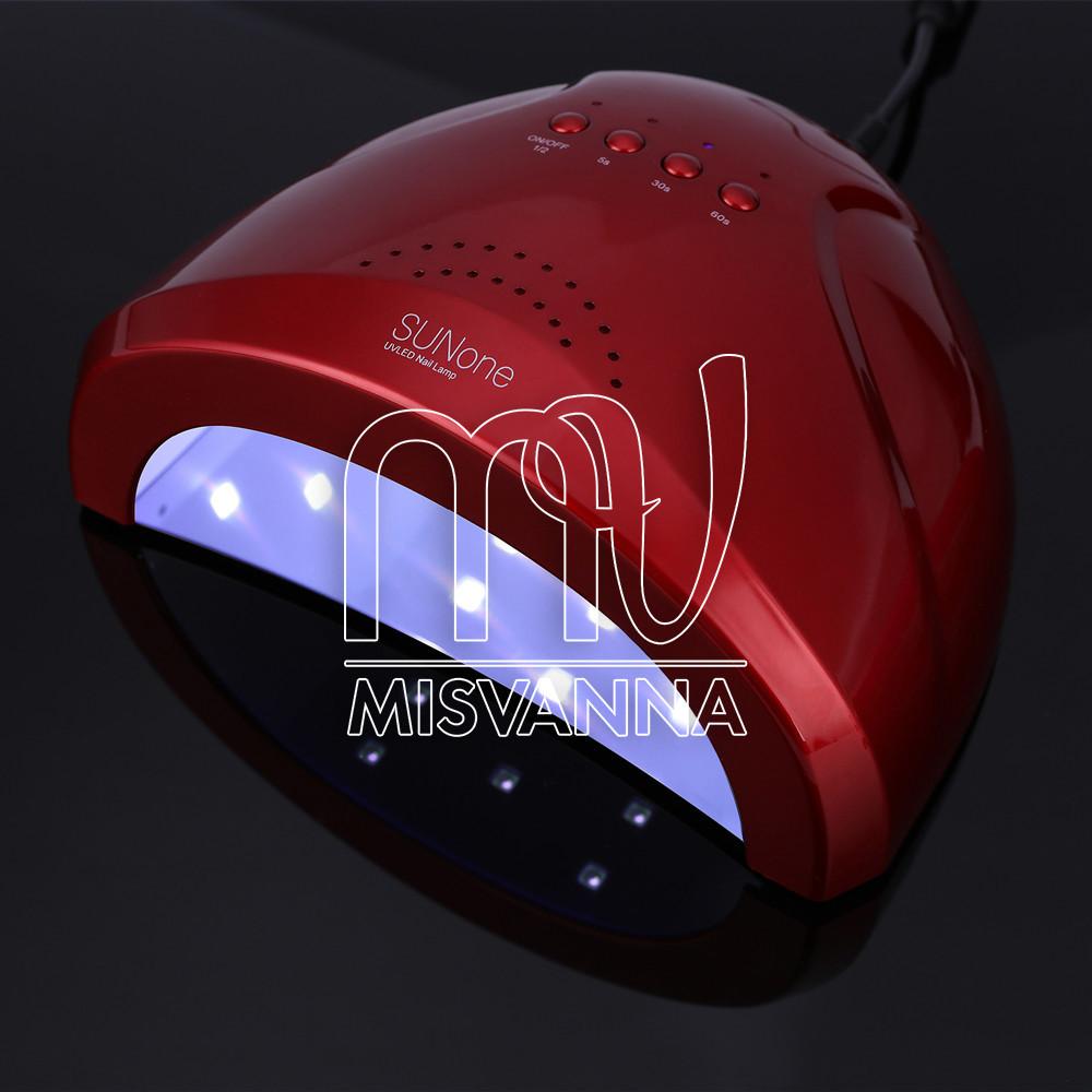 УФ лампа SUNone 2-в-1 UV+LED на 48 Вт для сушки геля и гель-лака (red)