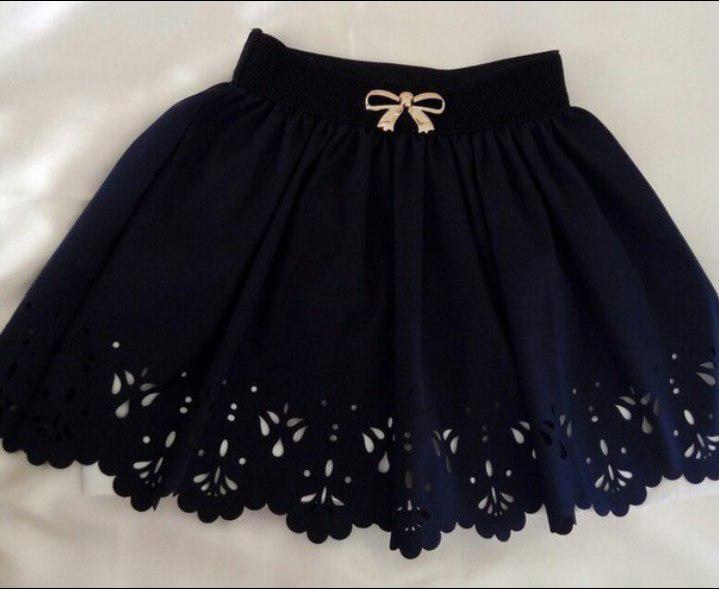 """Красивая школьная юбка для девочки """"перфорация"""""""
