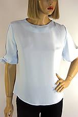 Блузка нарядна голуба з коротким рукавом Miss Poiss, фото 3