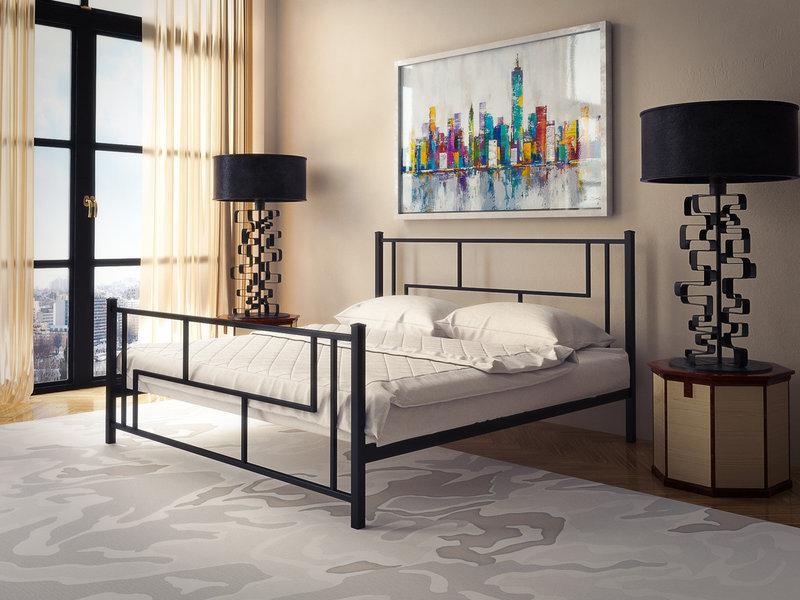 Кровать Амис Черный Бархат 120*190 (Tenero TM)