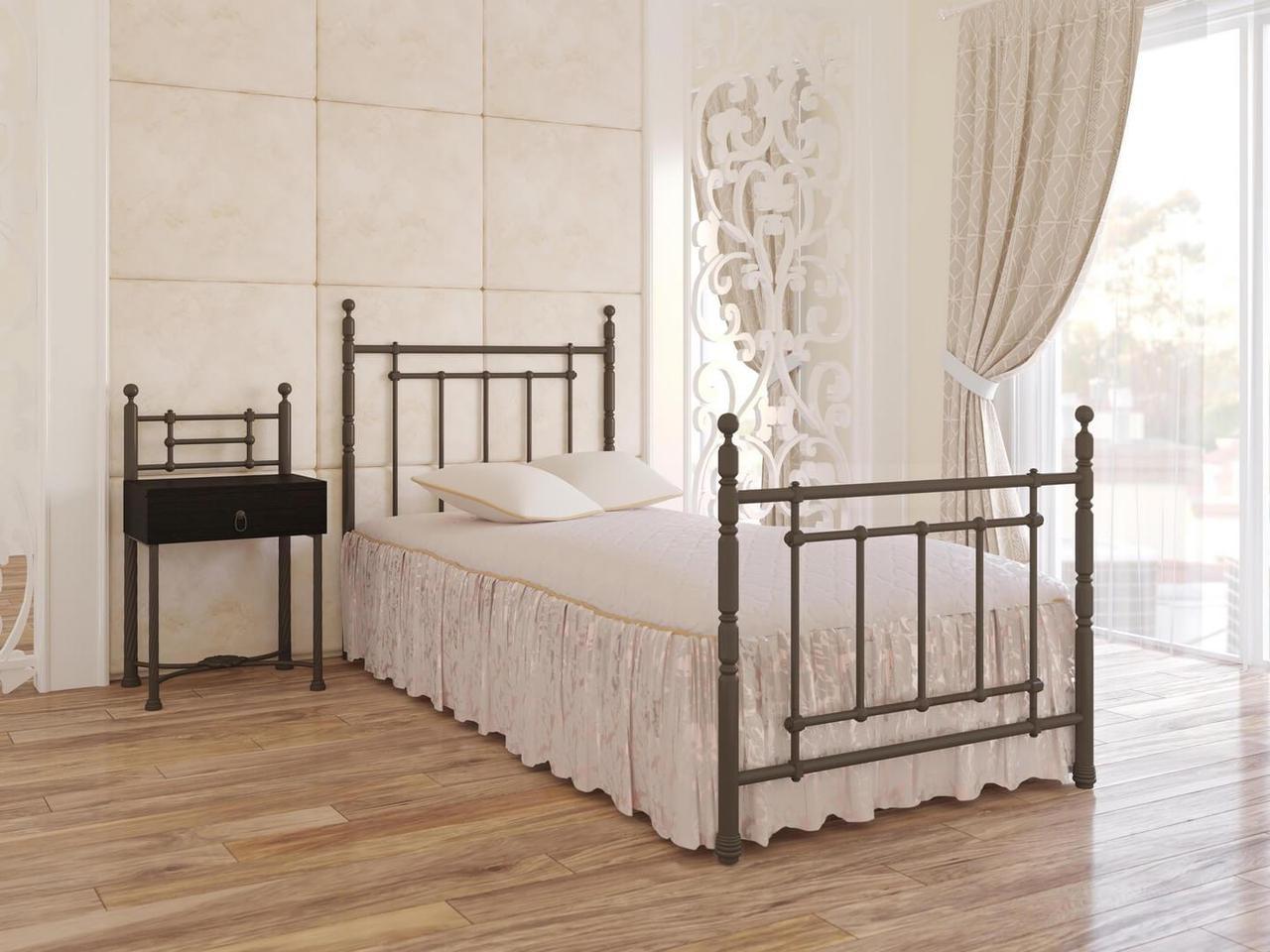 Кровать Неаполь Мини 90*190 серый песок (Металл дизайн)