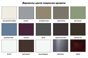 Кровать Неаполь Мини 90*190 серый песок (Металл дизайн), фото 2