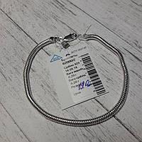 Браслет серебряный женский, снейк, 195 мм