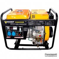 Однофазный дизель генератор с электростартером Forte FGD8000E