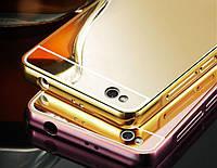 Чехол зеркальный Xiaomi  Redmi 3 (рамка алюминий, зеркало акрил)