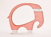 Фоторамка ручной работы слон розовый, фото 1