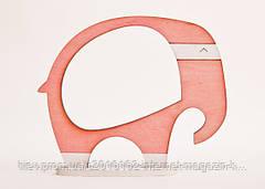 Фоторамка ручной работы слон розовый