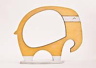 Фоторамка ручной работы Слон золотой, фото 1